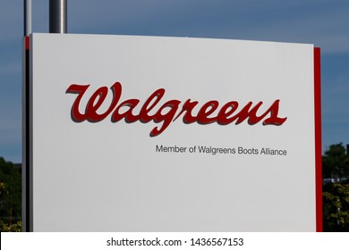 Deerfield - Circa June 2019: Walgreens Boots Alliance Headquarters. WBA brought together Walgreens and Alliance Boots pharmaceuticals X