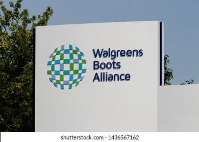 Deerfield - Circa June 2019: Walgreens Boots Alliance Headquarters. WBA brought together Walgreens and Alliance Boots pharmaceuticals IX