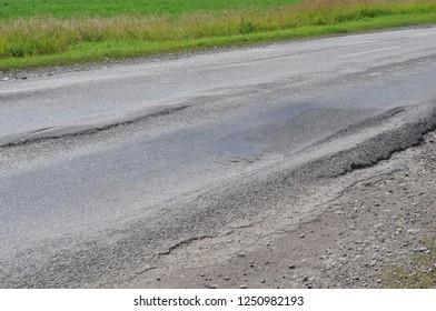 Defective Section of the road.