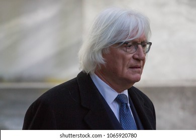 Defense attorney Thomas Mesereau arrives for day 2 of actor Bill Cosby's sexual assault re-trial at the Montgomery County Courthouse in Norristown, PA, April 10, 2018.