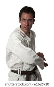 Defense posture in karate