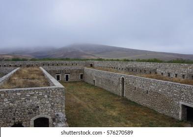 Defense walls of armenian medieval  monastery Amaras, Nagorno-Karabakh republic