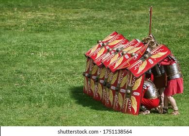 Die Verteidigungsstruktur der römischen Legionäre