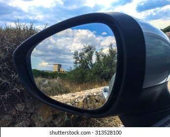 Defensive Tower from car mirror (Torre Lapillo - ITaly)