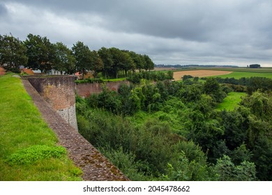Defensive walls around the town of Montreuil sur Mer, France