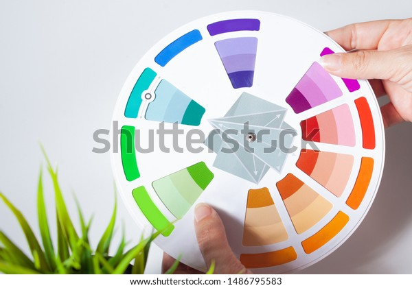 Define Your Color Type Female Hands Stock Photo Edit Now 1486795583