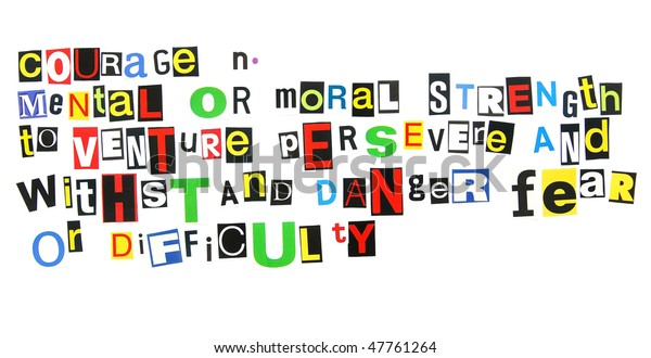 Definition Courage Stock Photo  Edit Now  47761264