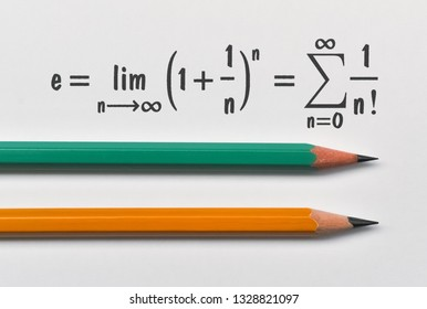 Definition of the Euler's constant in two different ways and two pencils