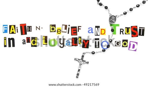 Definition Faith Rosary Stock Photo  Edit Now  49217569