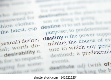 The definition of the noun Destiny in English dictionary