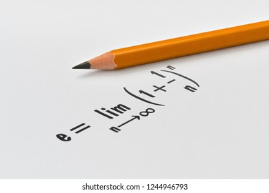 Definition of one well known mathematical constant named as Euler's number