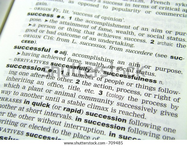 Definition Successful Dictionary Stock Photo (Edit Now) 709485