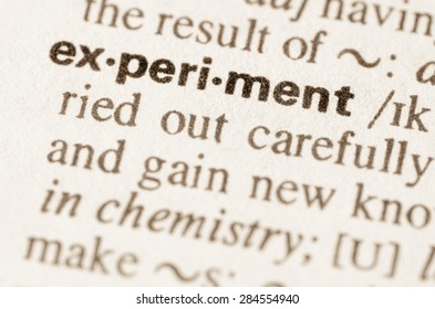 Definition of word experiment  in dictionary