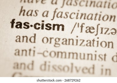 Definition of word fascism in dictionary