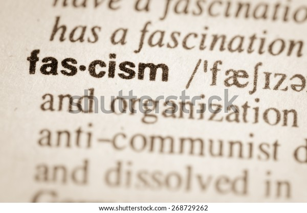 Definition Word Fascism Dictionary Stock Photo (Edit Now