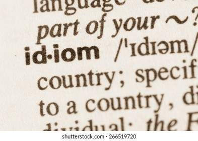 Definition of word idiom in dictionary