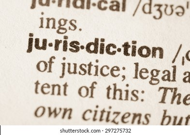 Definition of word jurisdiction  in dictionary