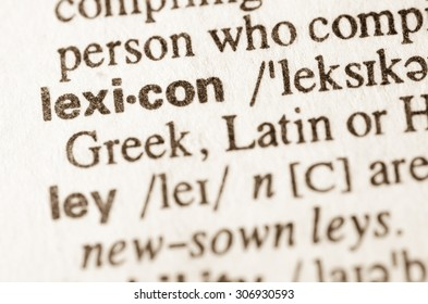 Definition of word lexicon in dictionary