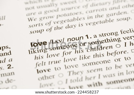 Definition Word Love In Dictionary
