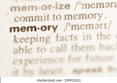 Definition of word memory  in dictionary