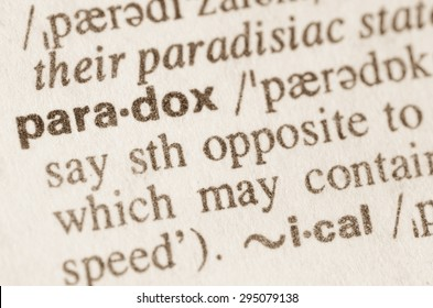 Definition of word paradox in dictionary