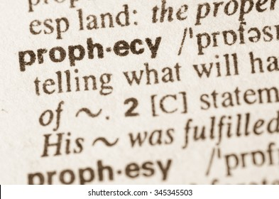 Definition of word prophecy in dictionary