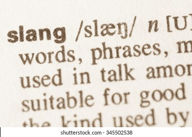 Definition of word slang in dictionary