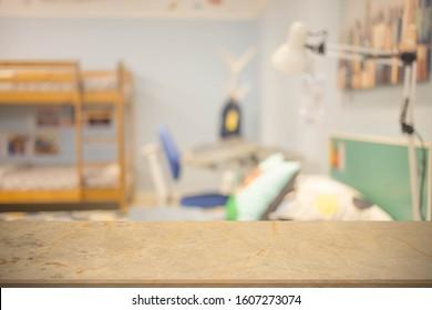 Defocus blur background of modern interior children bedroom.