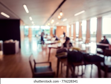 Defocus or blurred image of co-working space