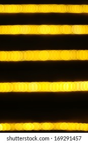 Defocused abstract golden and black background