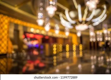Defocused background image of casino interior