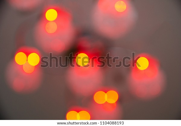 defocused background with red lights