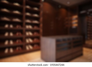 Defocused and Blur Photo of Simple Vintage Shoes Rack From Wooden Interior Design