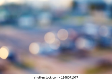 Defocused, blurred background of a cityscape with a bokeh