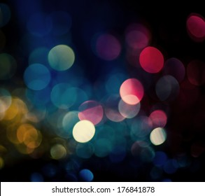 luzes bokeh desfocadas