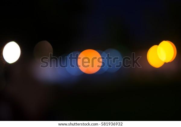 defocused bokeh lights.