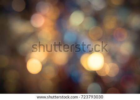 Christmas City Studio.Defocused Christmas City Night Colorful Bokeh Stock Photo