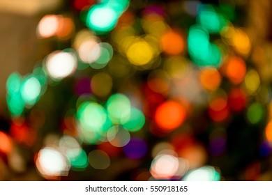 defocused christmas lights background. bokeh and wallpaper