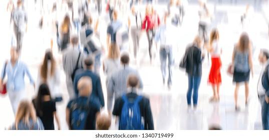 Defocused Crowd of people