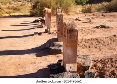 Defocused desert cemetery in Nevada