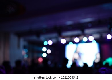 Defocused entertainment concert lighting on stage, blurred disco party and Concert Live