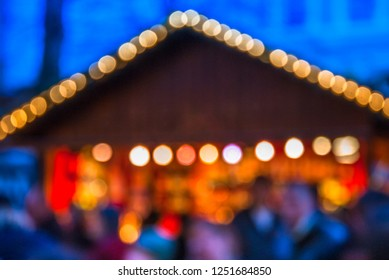 Defocused image of the European Christmas markets.