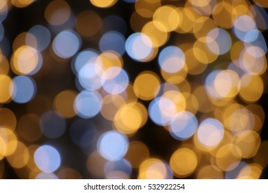 Defocused light blurred background decoration Christmas and New Year season