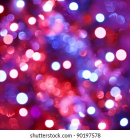 Defocused light dots abstract background