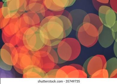Defocused light dots bokeh background