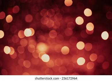 Defocused lights background marsala color