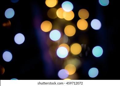 Defocused ligths of Christmas tree background