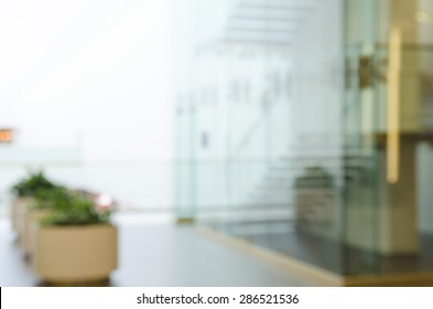 Defocused Office Building Lobby or hospital Background