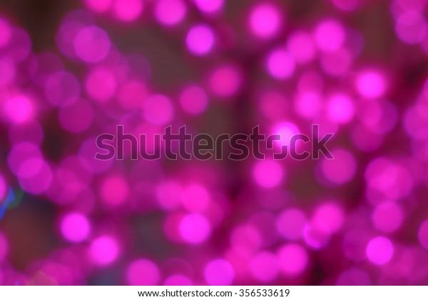 Defocused Pink Lights