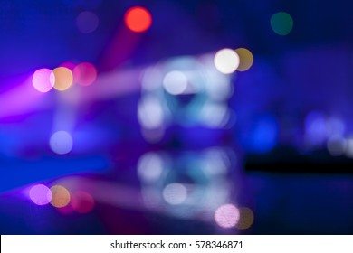 Defocused scene in the night club